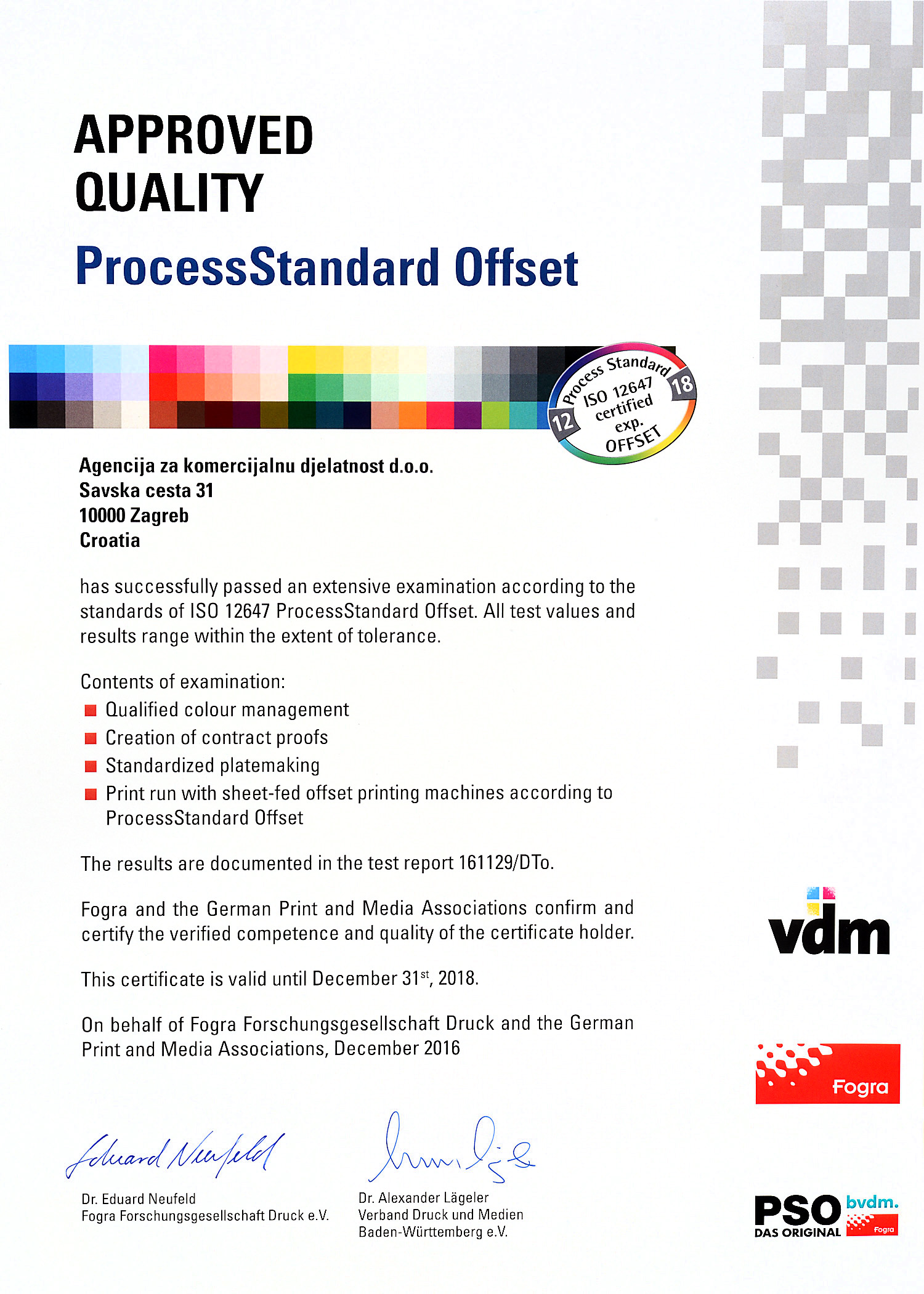 Process Standard Offset ISO 12647