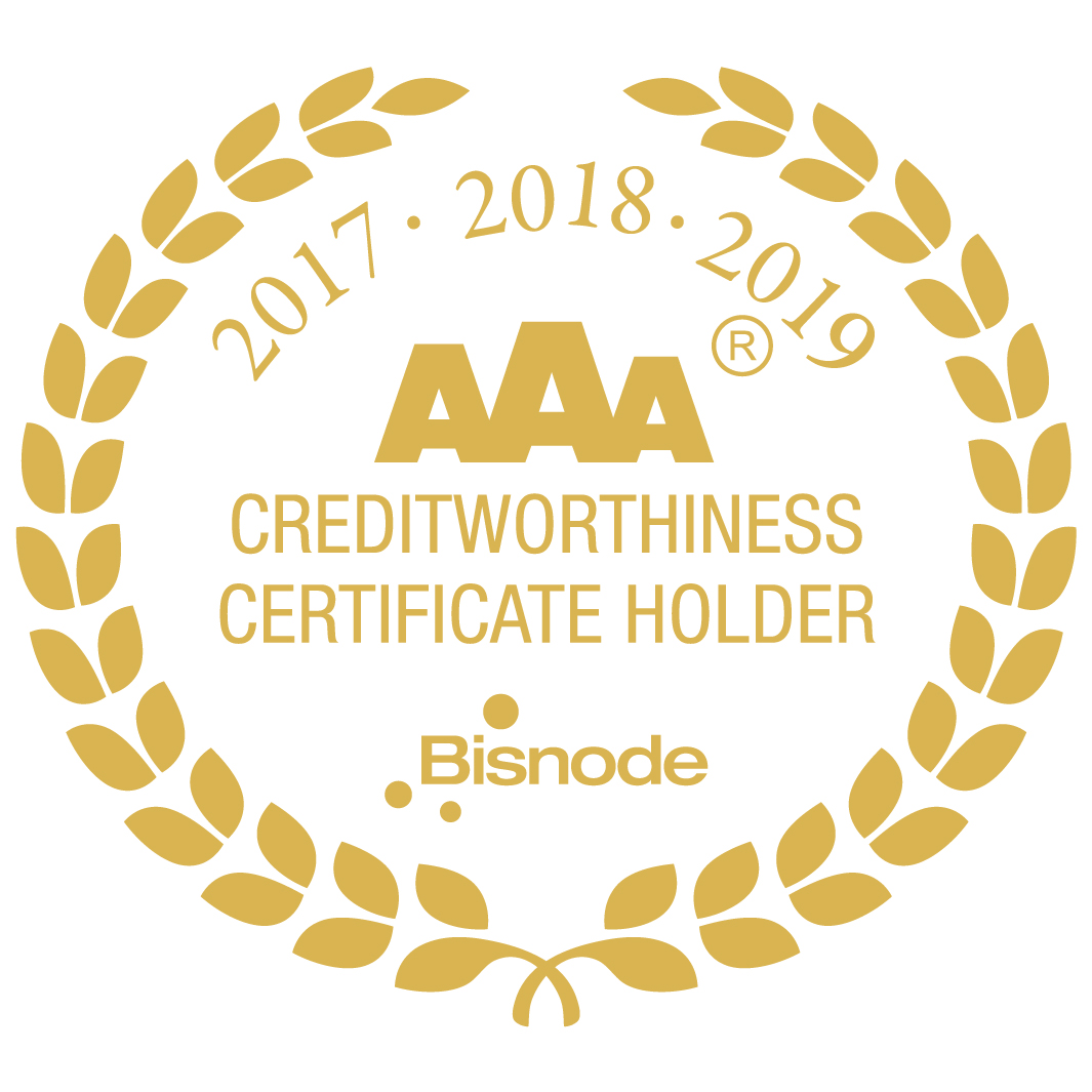 AAA Certificate of credit excellence